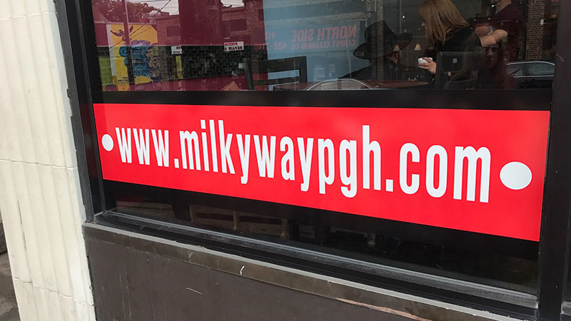 Window lettering, window graphics, Pittsburgh window signs, custom decals, letter sign, window decals, window lettering, vinyl lettering, window signs, vinyl, window decal, window sticker, sticker, digitally printed signs, digitally printed window decal