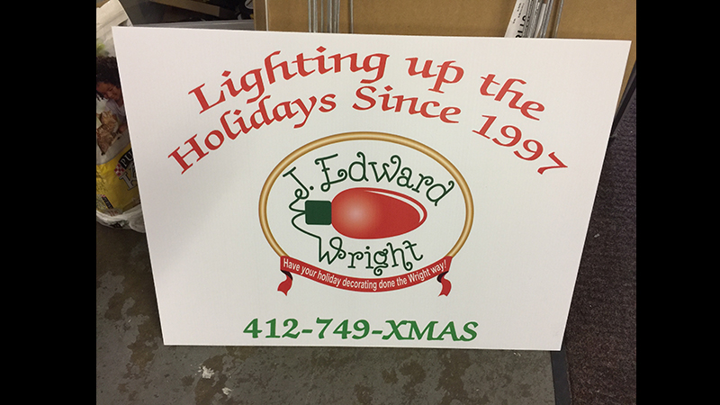 Yard Sign, Pittsburgh Yard Signs, Yard Signs, Yard Sign Printing, Custom Yard Signs, Pittsburgh Commercial Signs, Yard Signs with stakes, signage, yard signs online, signs for yard, digitally printed yard signs, digitally printed signs