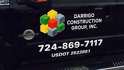 DOT Signs, Department of Transportation Signs, Pittsburgh DOT Signs, Commercial Printing in Pittsburgh, Pittsburgh USDOT, USDOT Signs, Vehicle Lettering, Vehicle graphics, Dot number, digitally printed vehicle lettering, digitally printed signs