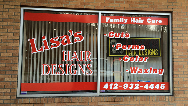 Window lettering window graphics pittsburgh window signs custom decals letter sign