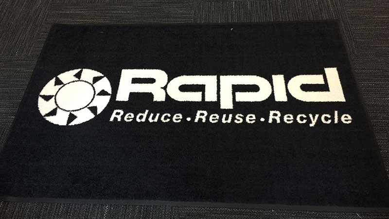Rapid Technologies Branded Logo Mat, Welcome Mat, Custom welcome mat, Business welcome mats, Mr. Sign, Pittsburgh Commercial Printing