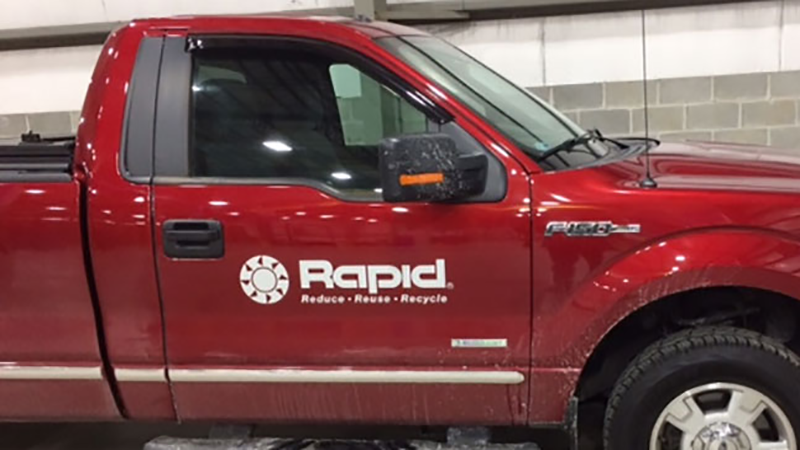 Rapid Technologies Truck Lettering, Vehicle Lettering, Fleet Graphics, Vehicle Graphics, Vehicle Branding, Pittsburgh Signs, Commercial Signs, Mr. Sign